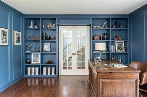 25 Stylish Built-In Bookshelves - Floor-to-Ceiling Shelving Ideas thin bookshelf
