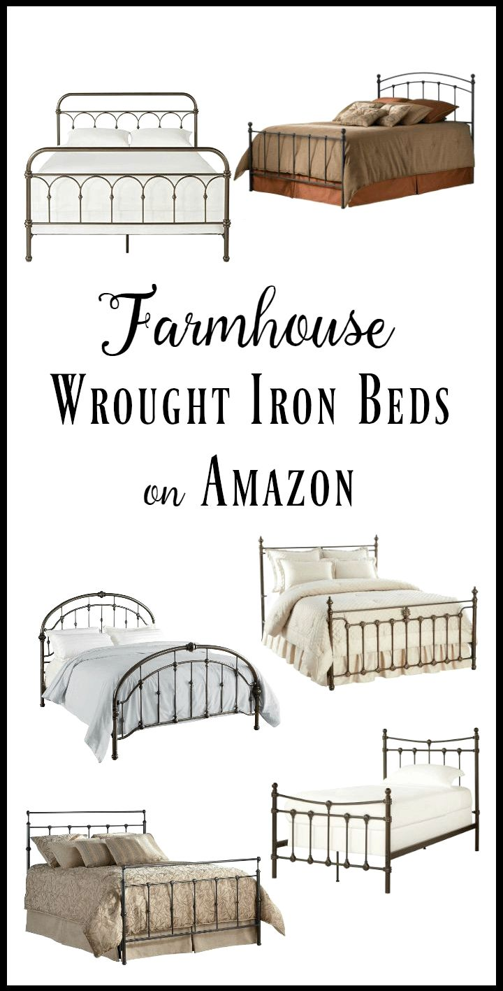 40 Inexpensive Farmhouse Style Wrought Iron Beds - Twelve On Main