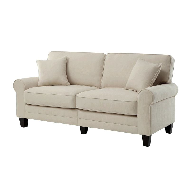 Beachcrest Home Buxton 61 - Rolled Arm Loveseat - Reviews, Wayfair needed            Seats as