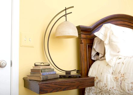 Bedroom Table - Nightstand Lamps sit perfectly on
