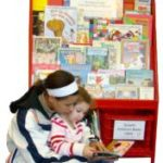 Bright Red Bookshelf, Family Reading Partnership