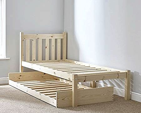 Buy Happy Beds Amelia Wooden Guest Bed and Trundle Frame from our Guest Beds range colored - 3ft Single Catalogue Number