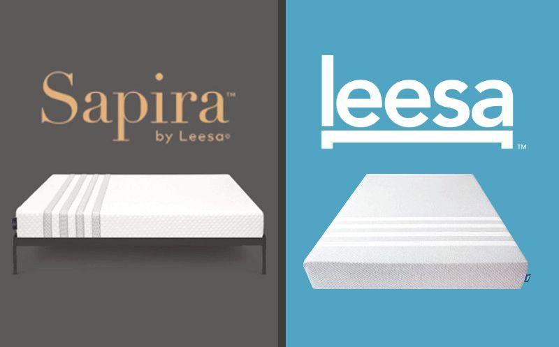 Compare Mattresses, Leesa and Sapira Leesa Foam Bed mattress