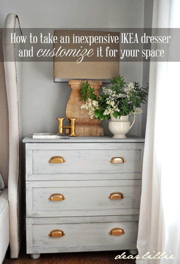 Dear Lillie Master Bedroom Night Stand Tutorial (IKEA Tarva Hack)