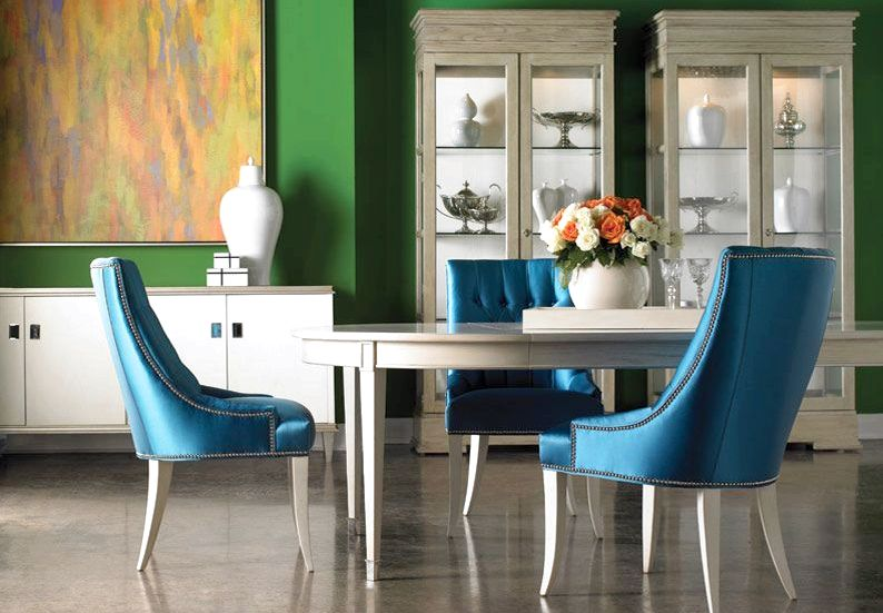 Dining Chairs - Lillian August - Furnishings Design dove gray finish and nate