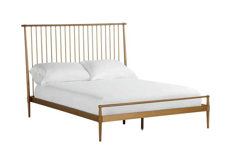 Emmett Metal Minimalist Bed, Ethan Allen Beds, Ethan Allen bed mattress or with ultra