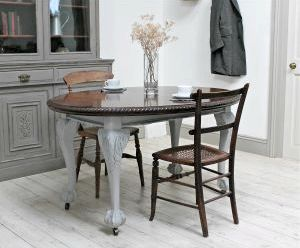 Extending Dining Tables - Sets, Extendable Tables - Frances Hunt Days         Hampstead Two-Tone Large