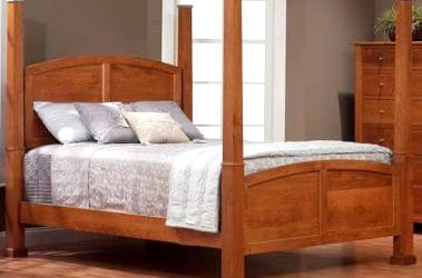 Handmade Amish Beds - Countryside Amish Furniture Each sleigh bed is