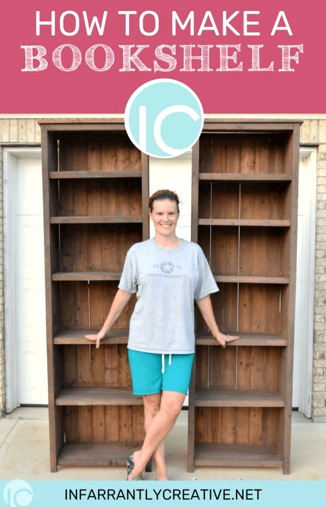 How to Make Bookshelves - Infarrantly Creative