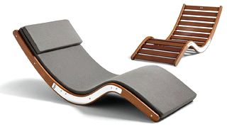 Luxury Outdoor Chaise Lounges, Modern Sun Lounger - Lujo - Lujo Living quality kwila hardwood, soft Sunbrella
