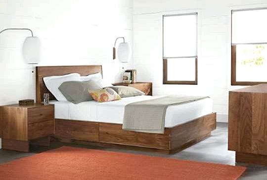 Modern - Contemporary Beds - Room & Board mattresses provide orthopedically correct support