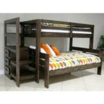 Oak Furniture West Bedroom Groups 7-Piece Twin Bunk Bed with Staircase – Mattress Set