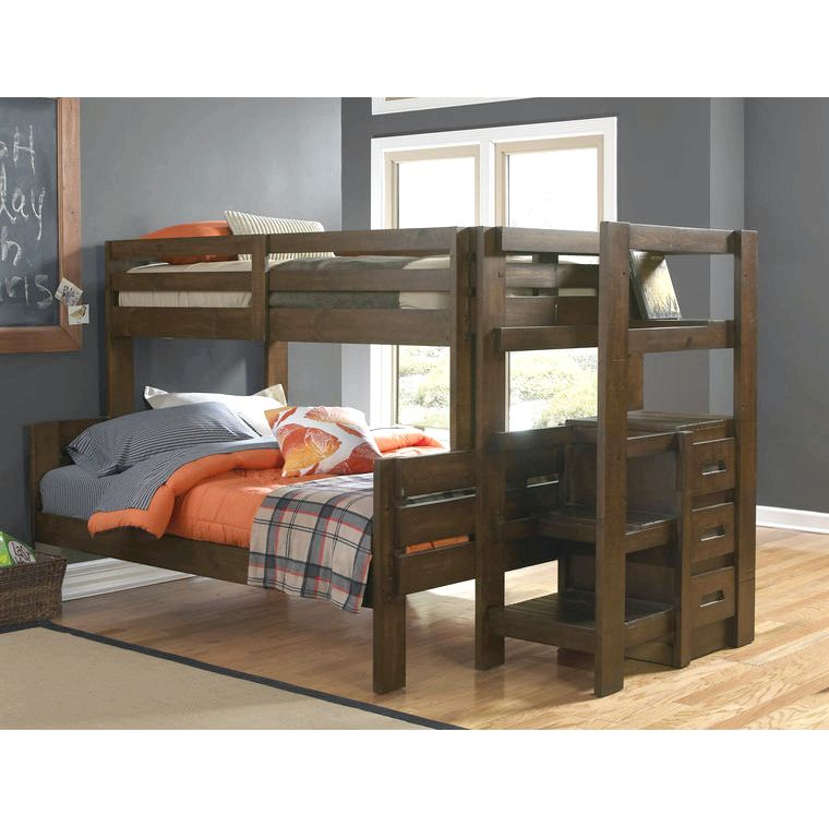 Oak Furniture West Bedroom Groups 7-Piece Twin Bunk Bed with Staircase - Mattress Set or out-of