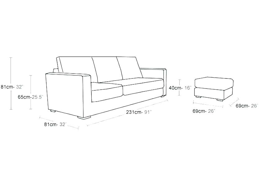 What are the dimensions of a standard loveseat of loveseat are